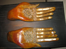 Hand Sculpture in Gandhi Smriti, Delhi, India