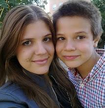 mis nietos Eva y Luis