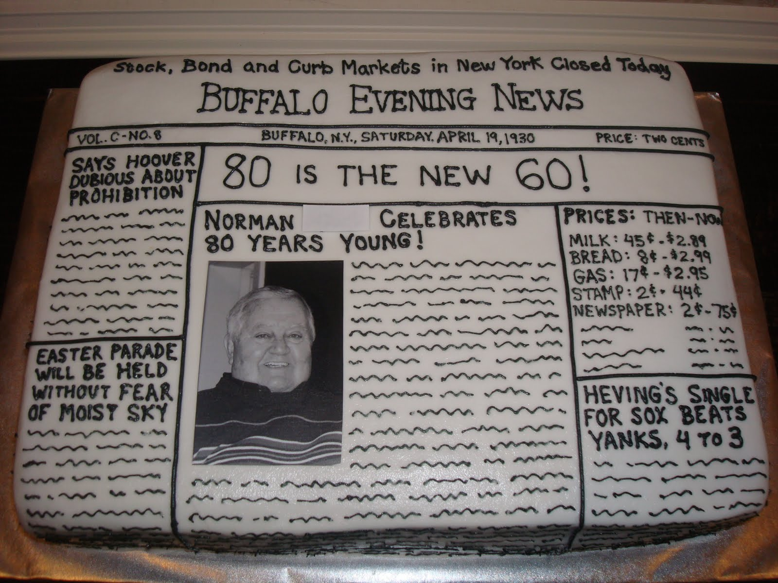 Cake ideas for 80th birthday party party decorating ideas