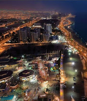 night view of the city of Jeddah
