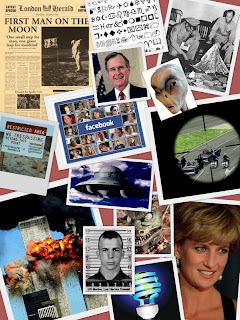 The collage is all my own work...the conspiracies are other people's!