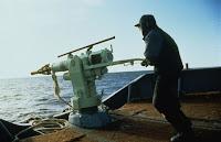 Norwegian whaling harpoonist