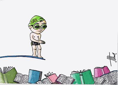 Mergulhe de cabeça da leitura