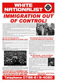 THE WHITE NATIONALIST BROADSHEET NEWSPAPER