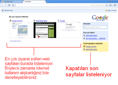 Google Chrome Hızlı Erişim