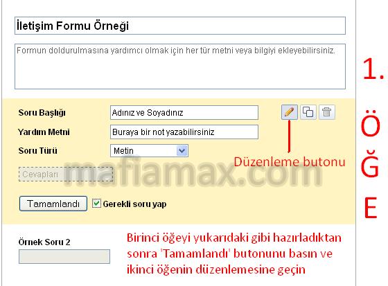Google Dokümanlar ile iletişim formu oluşturun