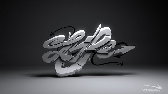 3D Graffiti Design Arrow Style
