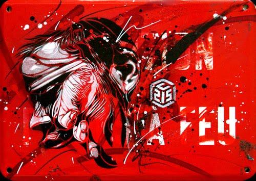 Shaker Graffiti Stencil In Metal
