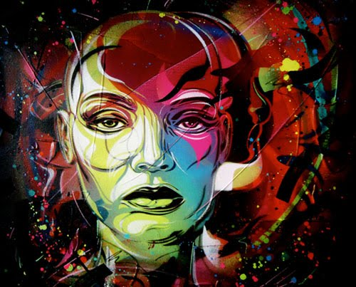 Midnight Dreams Graffiti Art on Canvas