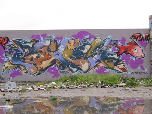 Red Fish Graffiti Street Art