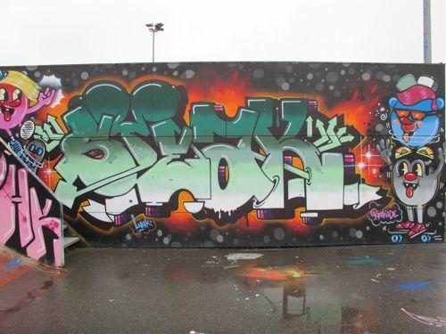Green Gradation Copenhagen Graffiti Art