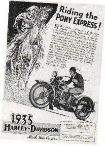 AFFICHES ANCIENNES ET PUBS H.D. Advertising+the+V-Twin+from+1935