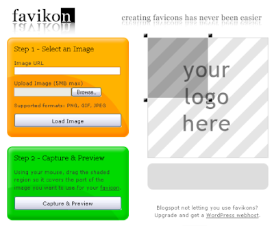 Blogger Trick: Use Simple Favicon Generator from Favikon