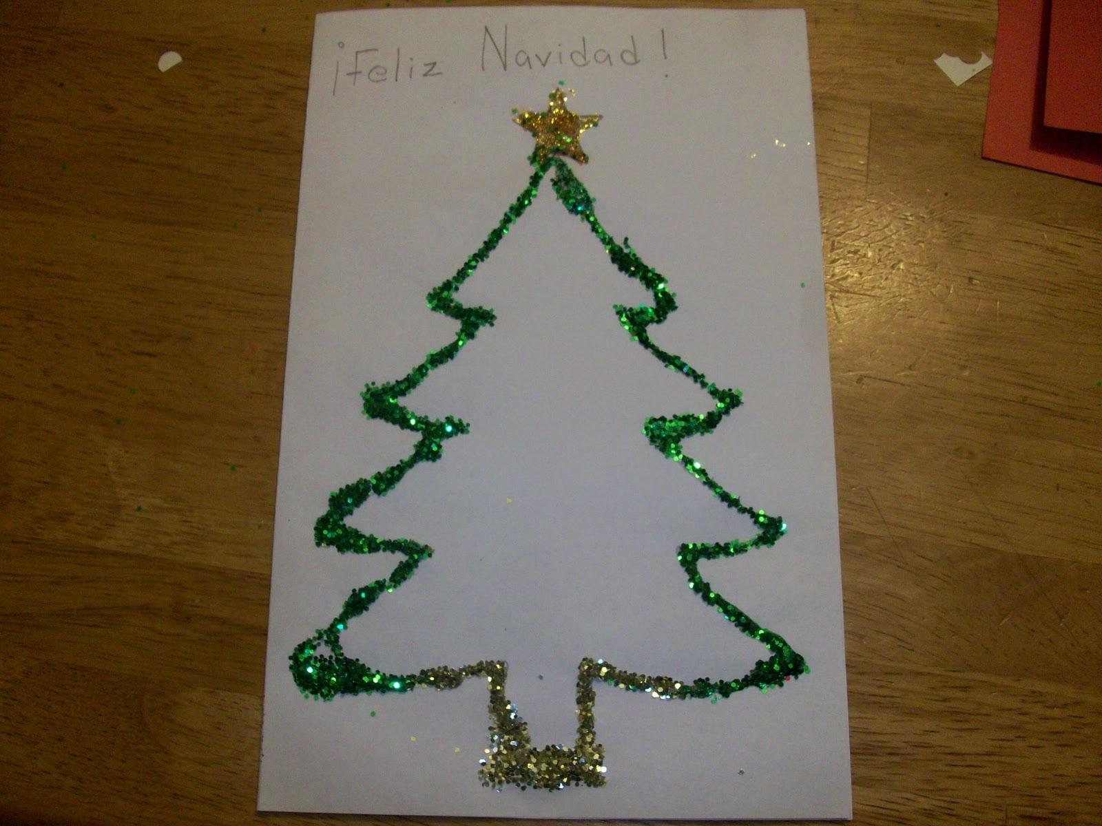 El blog de tit manualidades infantiles tarjetas navide as - Manualidades postales navidad ...
