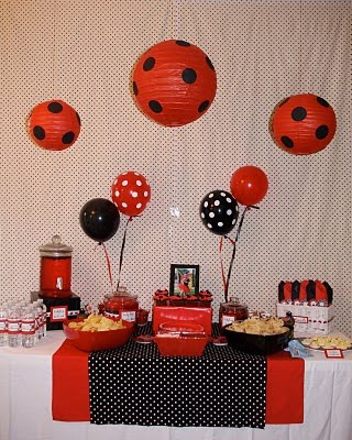 Polka Dot Birthday Supplies, Decor, Clothing: Heather's Red