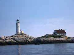 Lighthouse on one of the Isles of Shoals