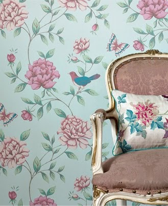 Ivy house interiors wallpaper of the week isabelle by for Monsoon home wallpaper uk
