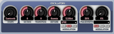 Oscillator modulated by an LFO