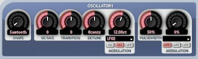 Oscillator modulated by an LFO
