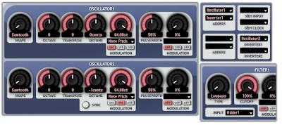 Custom waveform creation in the Aspect semi-modular synth