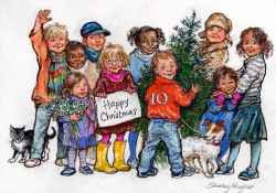 Shirley Hughes - Christmas Card for No 10 (2007)
