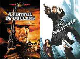 For a Fistful of Dollars (left) and Shoot 'em Up (right)