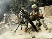 US 120mm Mortar Company: photo © Tim Hetherington/Panos Pictures (2007)
