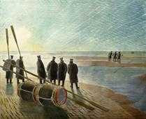 Eric Ravilious - Dangerous Work at Low Tide (MOD4144)