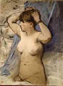 Edouard Manet - Femme nue se coiffant (1879)