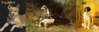 Dogs by Sargent, Blinks and Gérôme
