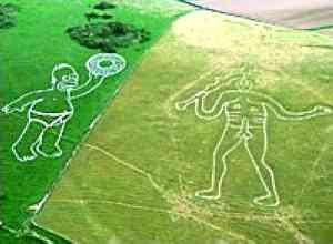 Homer Simpson meets the Rude Giant in Dorset (2007)