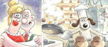 Aardman Animations - Storyboard Drawings (2007) for Trouble At Mill