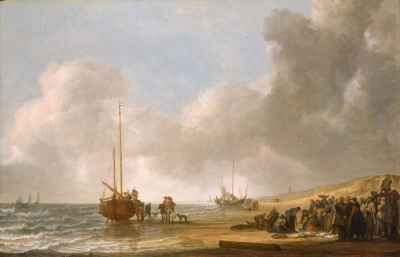 Simon de Vlieger - The Beach at Scheveningen