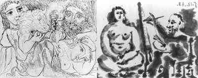 Picasso - Minotaur, Drinker And Women (1933) and The Painter And The Model (1963)