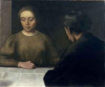 Vilhelm Hammershøi - Double Portrait (1898)