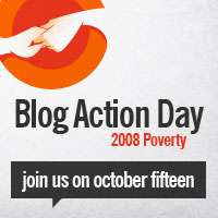Blog Action Day 2008 Poverty Logo