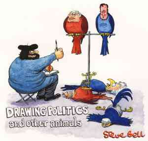 Steve Bell - Drawing Politics and other animals (2008)