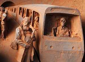 Paul Day - Clay Model of Skeleton Train Driver (2008)