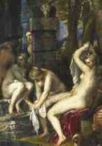 Titian - Diana and Actaeon (1556-59) detail