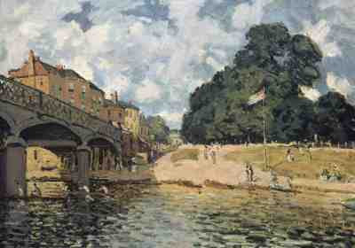 Alfred Sisley - Bridge at Hampton Court (1874)