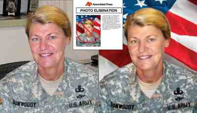 General Ann Dunwoody before & after digital tart-up (2008)