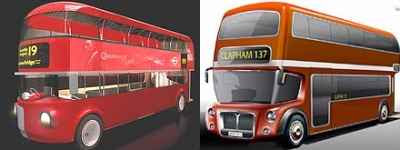 Routemaster Design Winners: left Foster-Aston-Martin, right Capoco Design (2008)