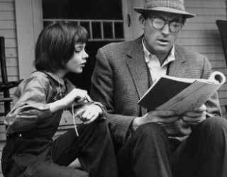 Mary Badham and Gregory Peck in To Kill A Mockingbird (1962)