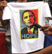 T-shirt with Shepard Fairey's portrait of Barack Obama (2008)