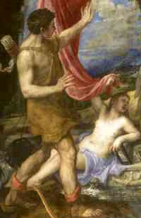 Titian - Diana and Actaeon (ca 1559) detail