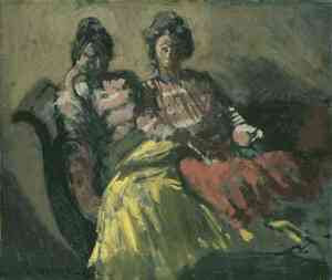 Walter Sickert - The Women on a Sofa [Le Tose] (c.1903)
