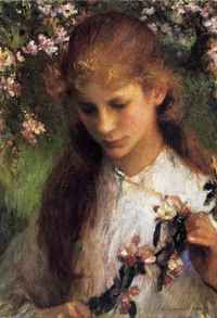 Sir George Clausen - Apple Blossom (1899)
