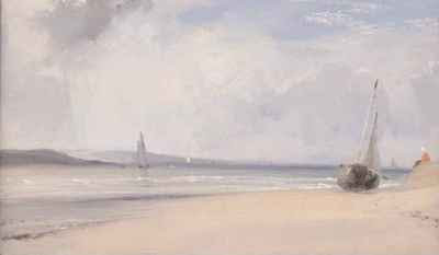 Richard Parkes Bonington - La Fert: estuaire dans le Nord de la France (c.1825)