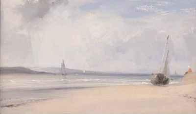 Richard Parkes Bonington - La Ferté: estuaire dans le Nord de la France (c.1825)