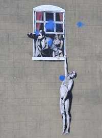 Banksy - Stencilled Graffiti in Park Street, Bristol (2006)